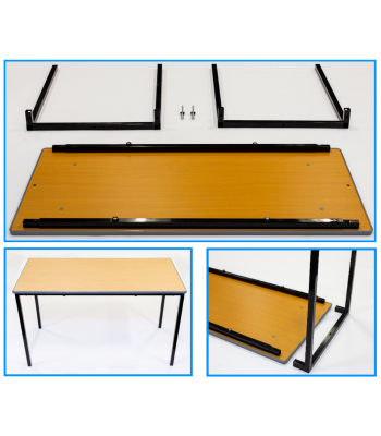 Self Assembly Cast PU Edge Classroom Tables