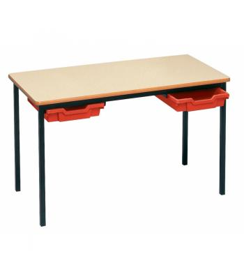 PVC Edge Classroom Tables With Trays