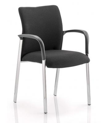 Academy Black Fabric Reception Chair With Arms SALE