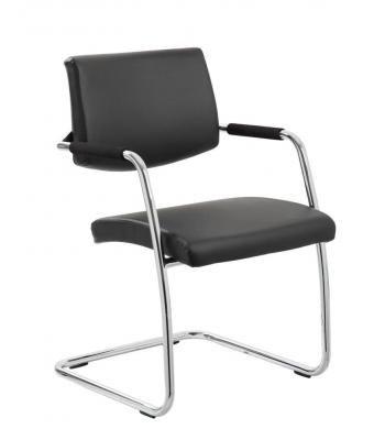 Havanna Leather Visitors Chair With Arms