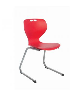 Mata Reverse Cantilever Chairs - Red 310mm (Sale)
