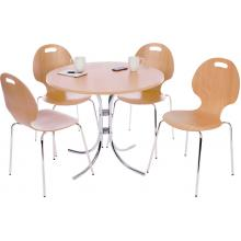 Cafe Chrome Table and Chairs Set