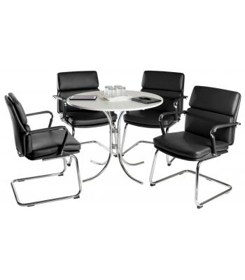 Deco Conference Table and Chairs Set