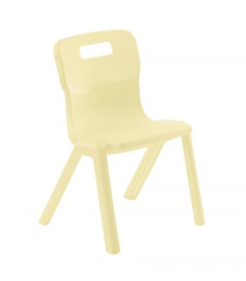 Titan One Piece Chair 310mm Cream SALE