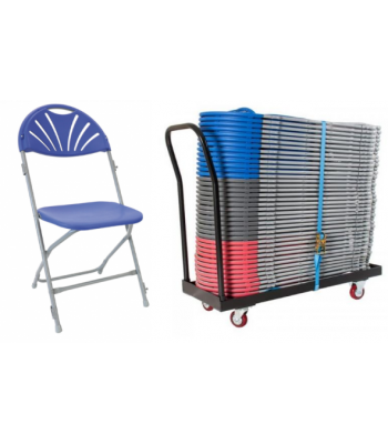 40 Fan Back Folding Chair Package