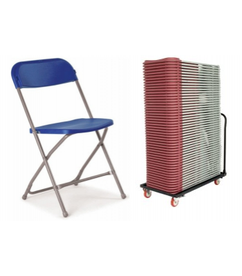 40 Flat Back Folding Chair Package