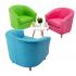 Kiddietubbie Faux Leather Tub Chairs