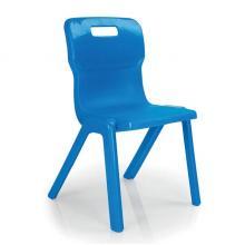Titan One Piece Chair SALE 430mm Blue