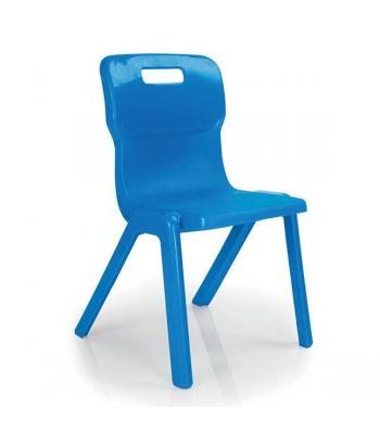 Titan One Piece Chair SALE 430mm Blue