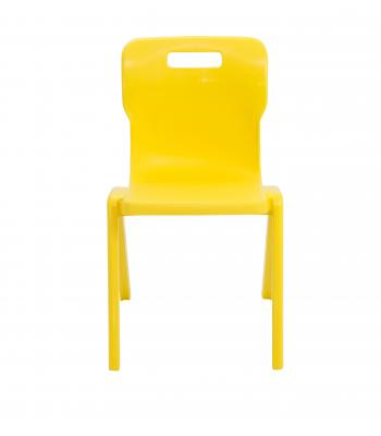 Titan One Piece Chair SALE 350mm Yellow