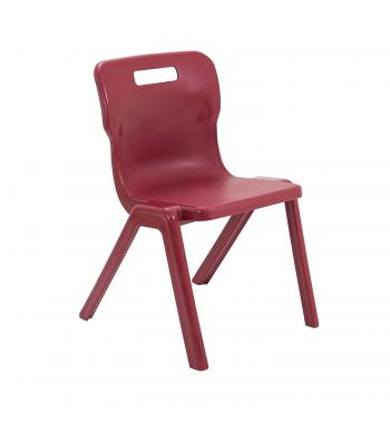 Titan One Piece Chairs Sale: 310mm Burgundy