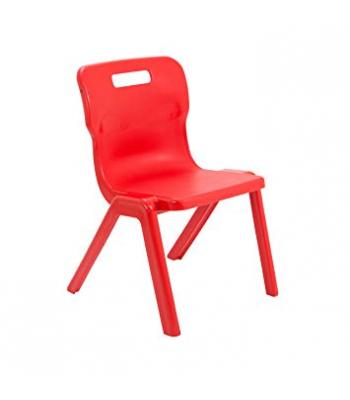 Titan One Piece Chair Sale: 380mm Red