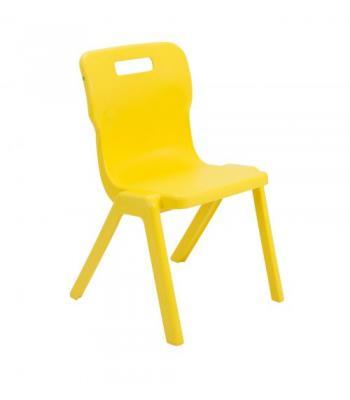 Titan One Piece Chair Sale: 380mm Yellow